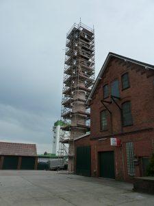 Schornstein auf dem ehemaligen Gelände der Firma Sebens, Leer, Ostfriesland, am 5. August 2012 (Foto: K. Sebens)